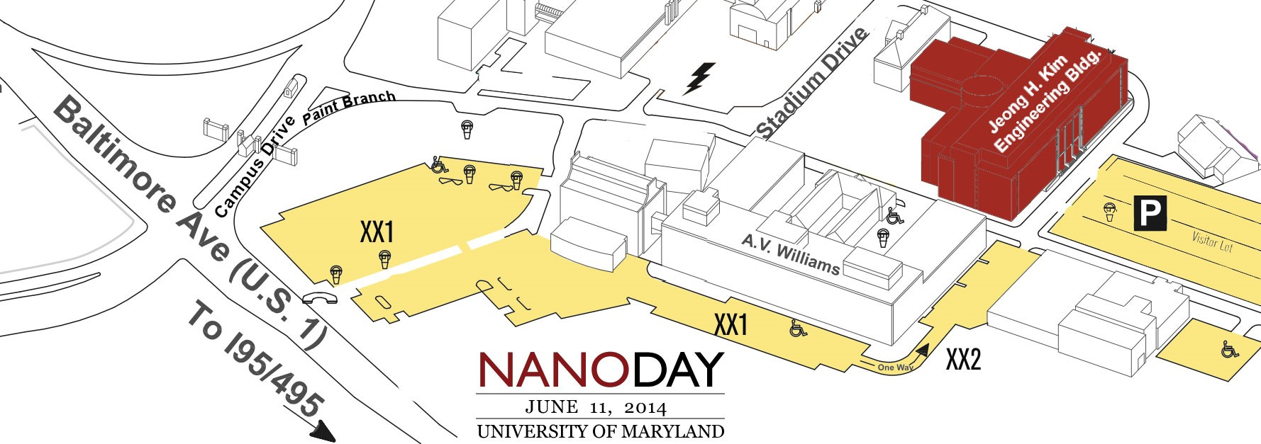 NanoDay 2014 Parking Map